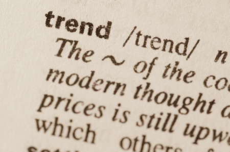lexical: Definition of word trend  in dictionary