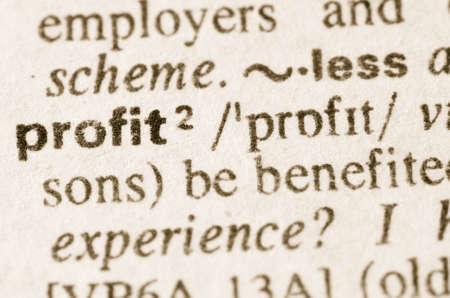definición: Definición de la ganancia palabra en el diccionario Foto de archivo