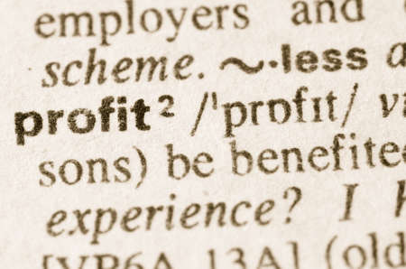 increment: Definition of word profit in dictionary Stock Photo