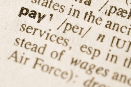 lexical: Definition of word pay in dictionary