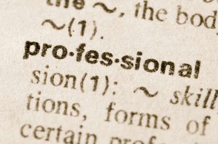 definición: Definición de profesional en el diccionario de la palabra Foto de archivo