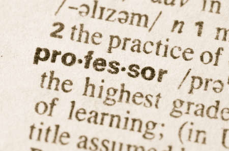 definition: Definition of word profesor  in dictionary