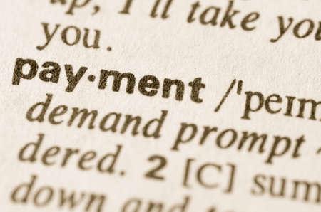 definicion: Definici�n de pago de la palabra en el diccionario
