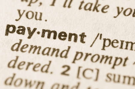 definition: Definition of word payment  in dictionary