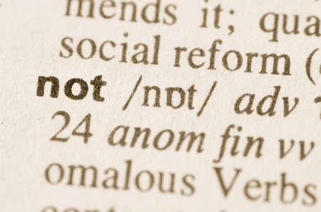 definicion: Definici�n de palabra no en el diccionario Foto de archivo