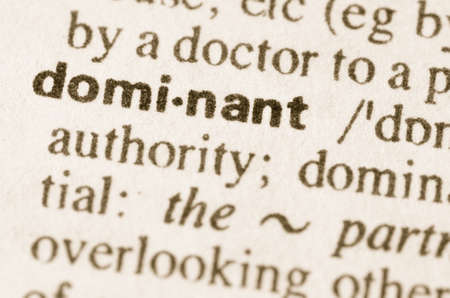 predominant: Definition of word dominant  in dictionary