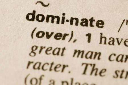 definicion: Definición de la palabra en el diccionario de dominar