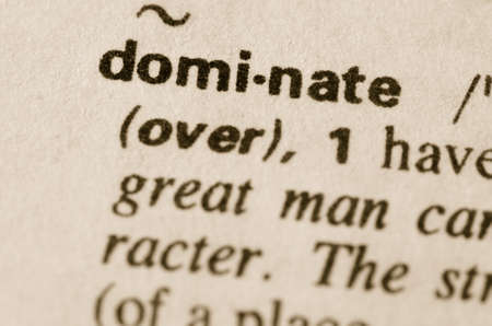 Definition of word dominate in dictionary
