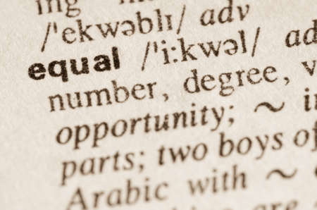 lexical: Definition of word equal  in dictionary