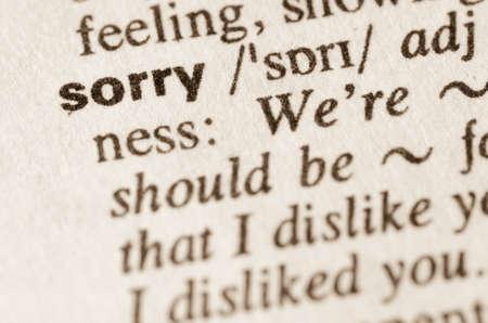 definición: Definición de la palabra en el diccionario lo siento