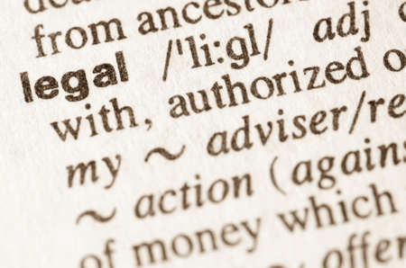 rightful: Definition of word legal  in dictionary Stock Photo