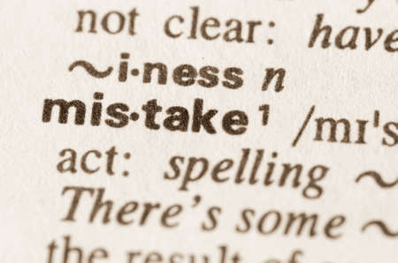 blunder: Definition of word mistake in dictionary Stock Photo