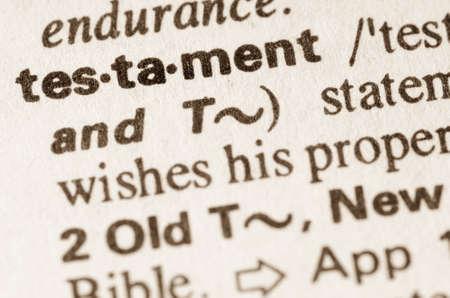 definicion: Definici�n de palabra testamento en el diccionario