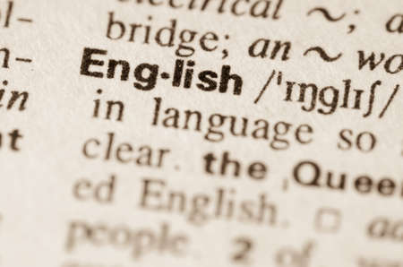 'english: Definition of word English in dictionary Stock Photo