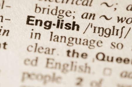 Definition of word English in dictionary Archivio Fotografico