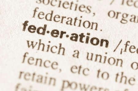 definicion: Definición de la federación de la palabra en el diccionario