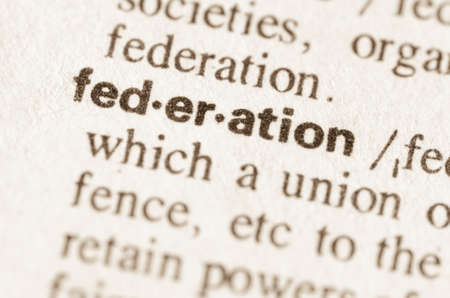 lexical: Definition of word federation in dictionary Stock Photo
