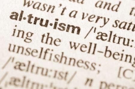 altruism: Definición de la palabra altruismo en el diccionario