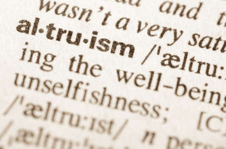 altruism: Definition of word altruism in dictionary Stock Photo