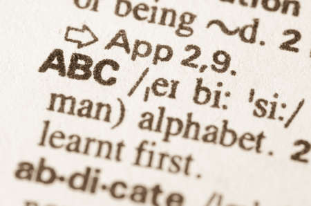 lexical: Definition of word ABC in dictionary Stock Photo