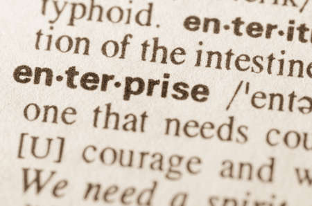 definition: Definition of word enterprise in dictionary Stock Photo