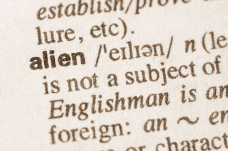 lexical: Definition of word alien in dictionary