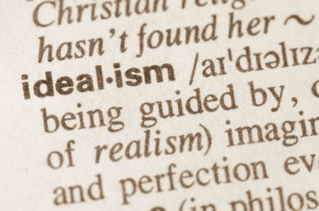 idealism: Definition of word idealism in dictionary Stock Photo