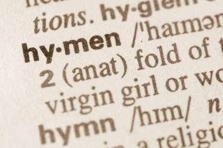 definicion: Definici�n de la palabra en el diccionario de himen