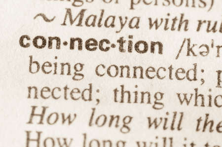 lexical: Definition of word connection in dictionary