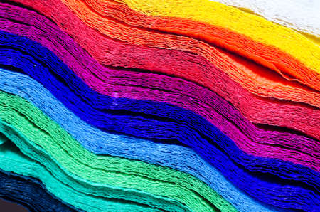 detail of  multicolored crepe paper texture background
