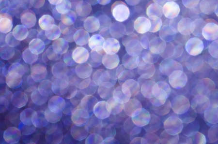 violet abstract blurred bokeh lights background Stock Photo