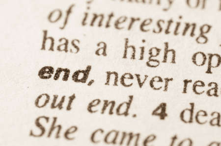 lexical: Definition of word end in dictionary