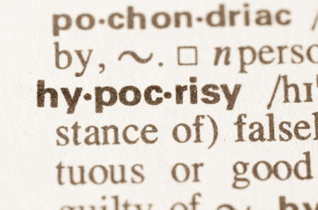 hypocrisy: Definition of word hypocrisy in dictionary