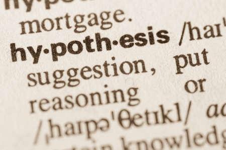 hypothesis: Definici�n de la palabra en el diccionario de hip�tesis