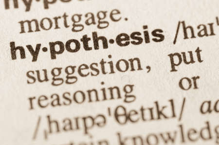 hypothesis: Definition of word hypothesis in dictionary
