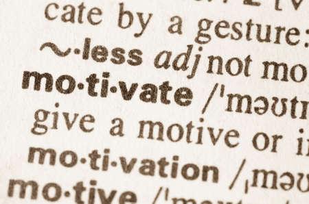 definicion: Definici�n de la palabra en el diccionario de motivar