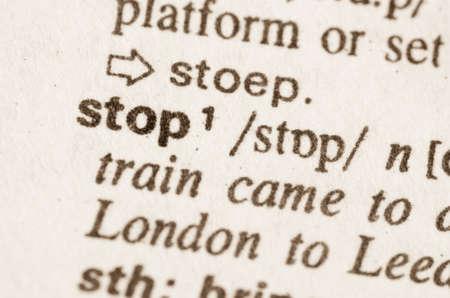 definicion: Definici�n de parada de la palabra en el diccionario