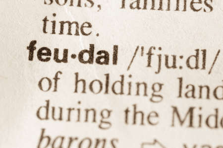 Definition of word feudal in dictionary Stock Photo