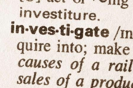 definicion: Definición de la palabra en el diccionario de investigar