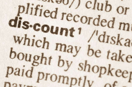 lexical: Definition of word discount in dictionary