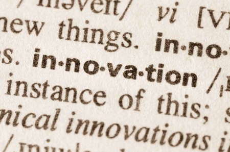 lexical: Definition of word innovation  in dictionary Stock Photo