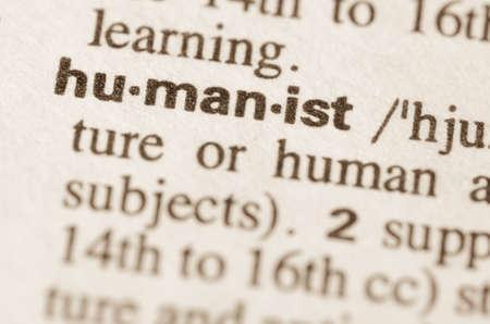 definicion: Definici�n de la palabra humanista en el diccionario Foto de archivo