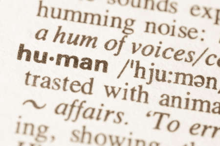 lexical: Definition of word  human  in dictionary