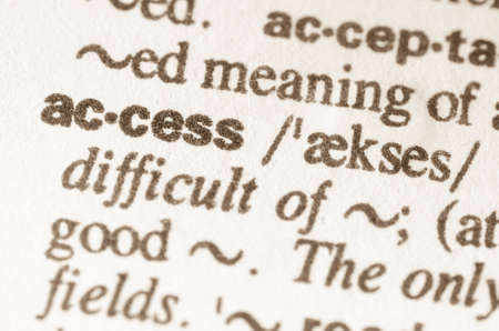 lexical: Definition of word acces    in dictionary