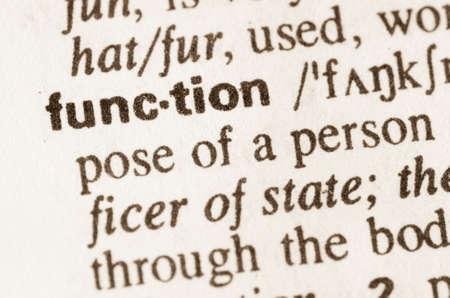 definicion: Definición de la función de la palabra en el diccionario