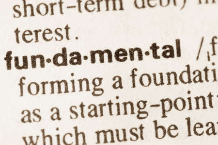 lexical: Definition of word fundamental in dictionary