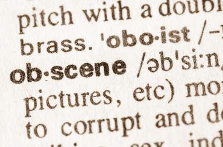 definicion: Definici�n de palabra obscena en el diccionario