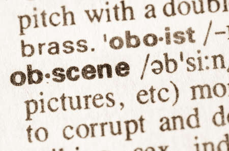 definition: Definition of word obscene in dictionary