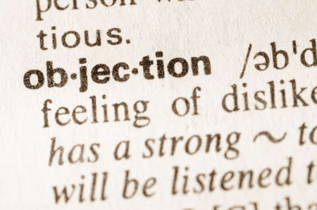 objection: Definition of word objection  in dictionary