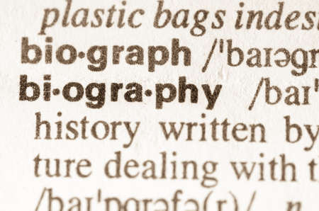 lexical: Definition of word biography  in dictionary